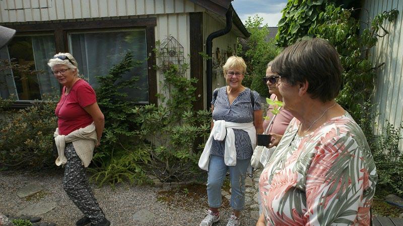 En del av oss som besökte den Japanska trädgården.