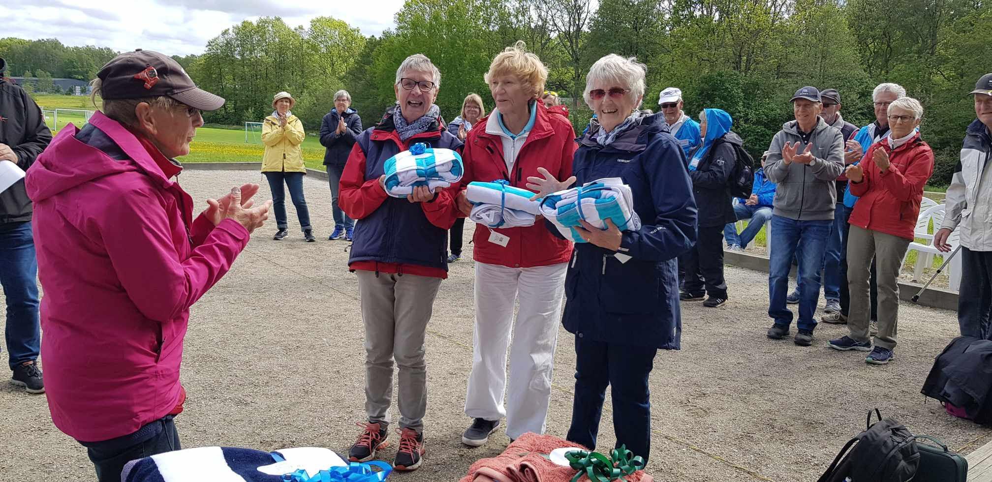 Ulla Mattsson, Florence Karlsson och Tyra Gustafsson