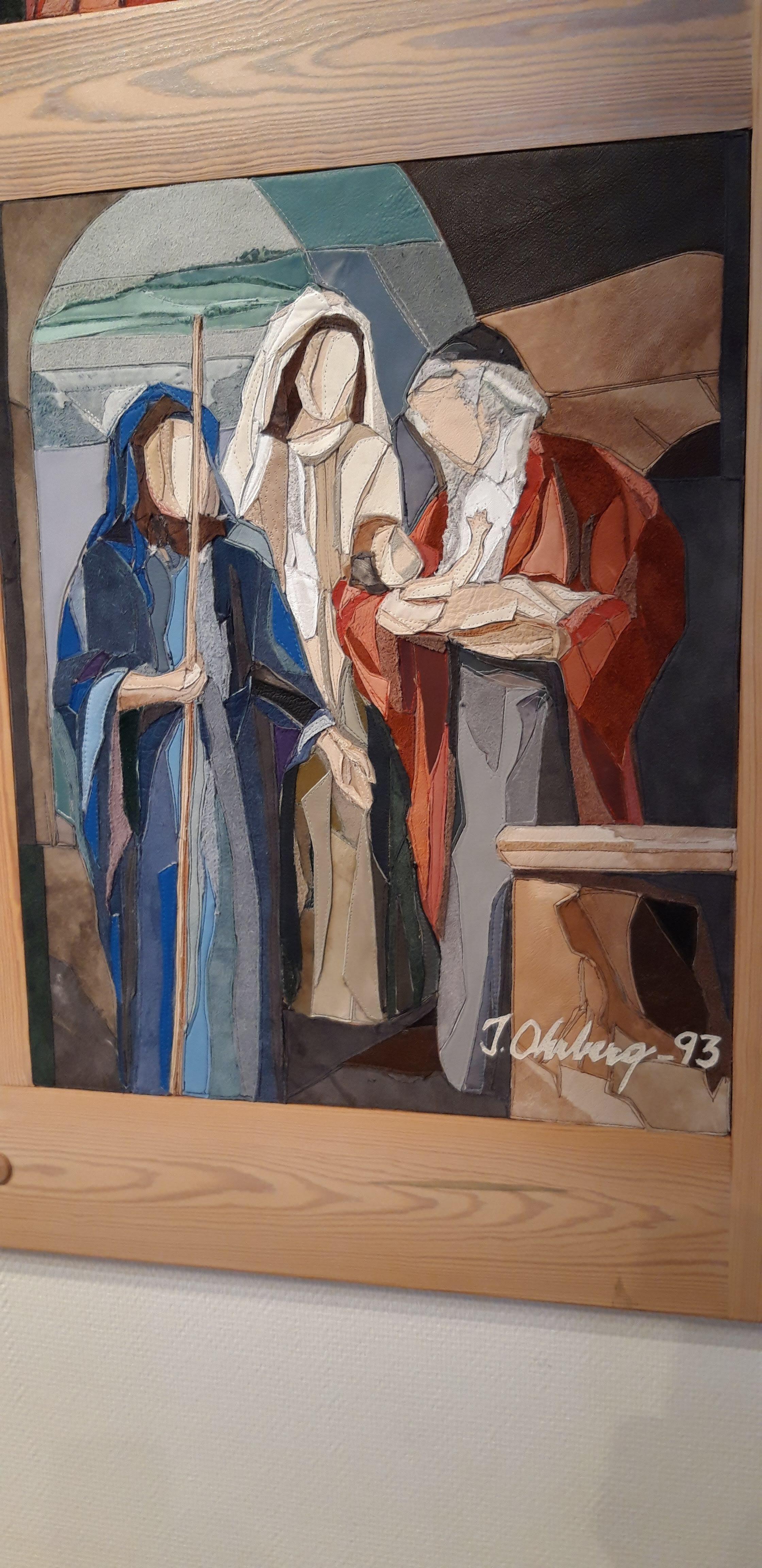 Symeon får se Jesus i templet