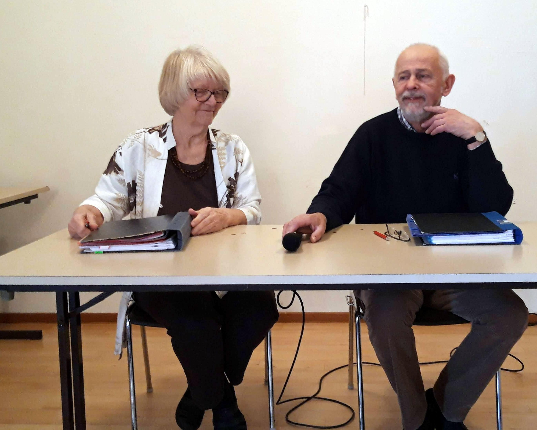 Ordförande Stig-Harald och sekreterare Ann-Christine