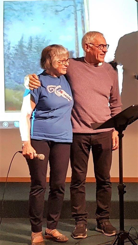 Kjell Sundberg tillsammans med sin medberättare  Agneta J-son Granemalm