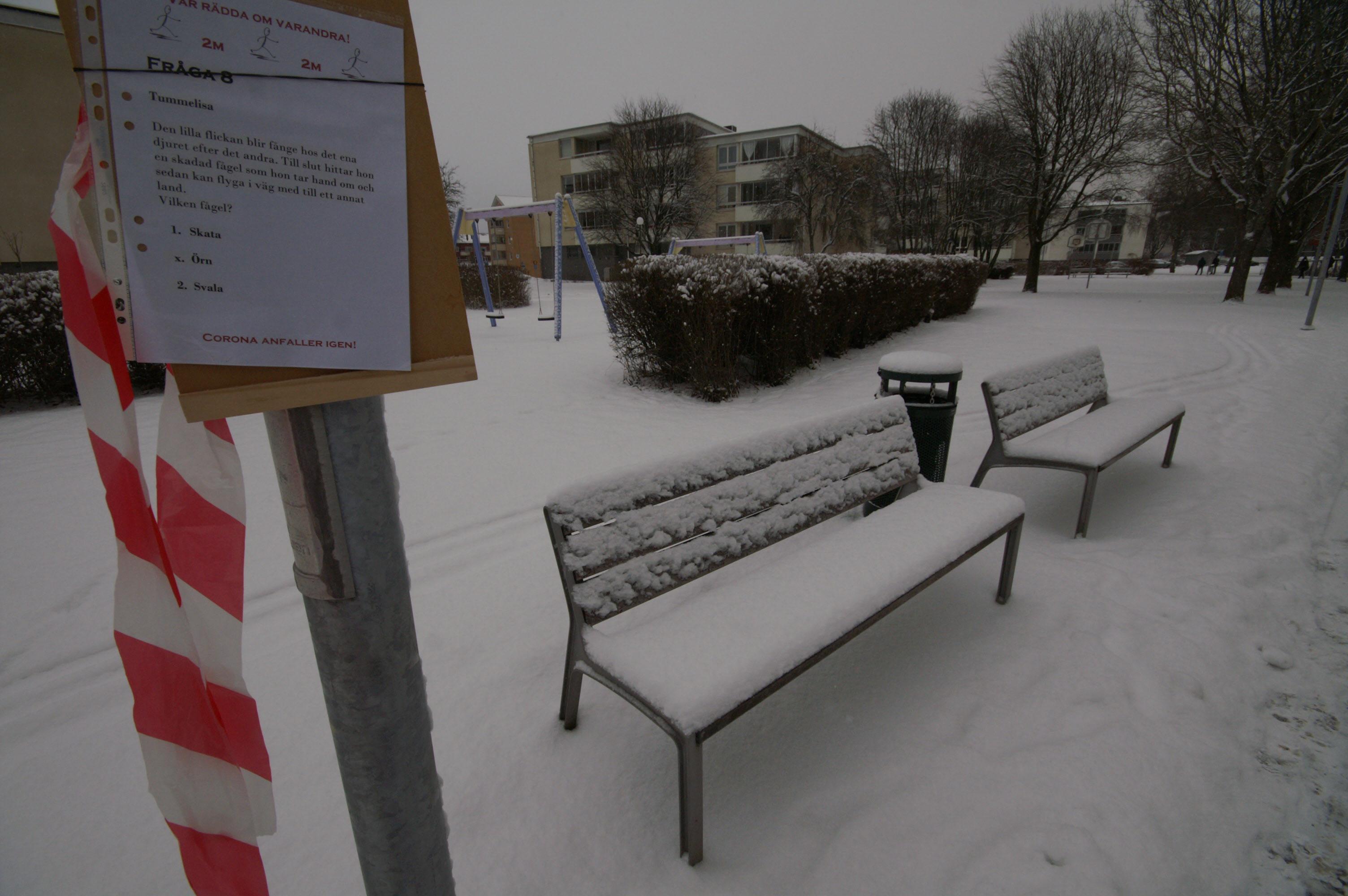 Här är det ingen som vill sitta och vila