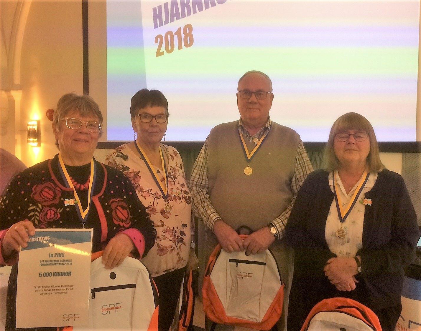 Vinnare i SPF Seniorernas Rikstävlingen 2018 blev Kumllaget