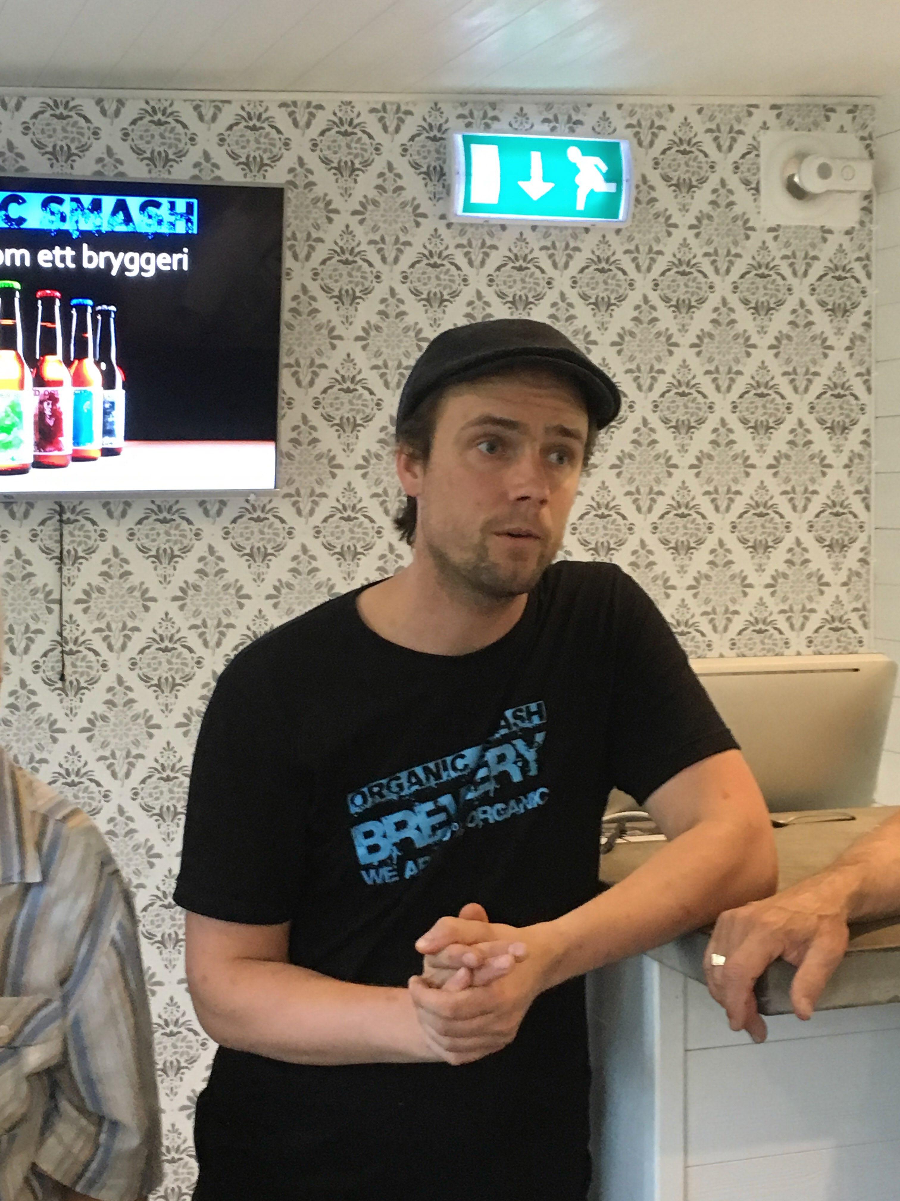 Anders Malmberg berättade om Organic Smash Brewery i Orbaden.