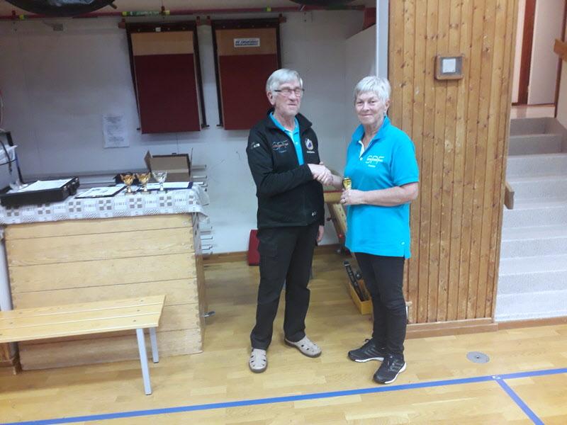 Vinnare i damklassen Christina Larsson