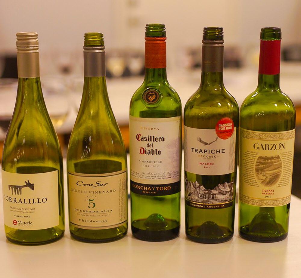 Fem sydamerikanska viner