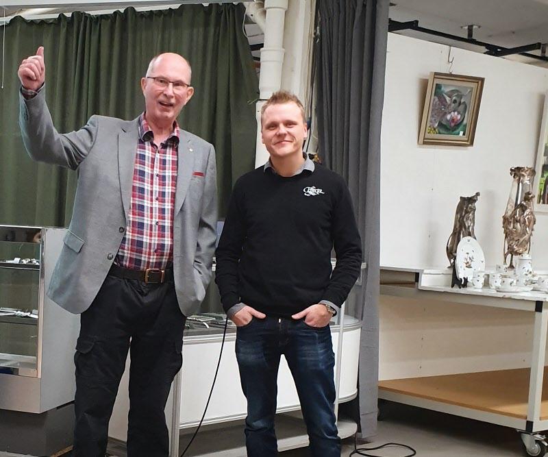Hans Grundel tillsammans med Kristoffer Hurtta