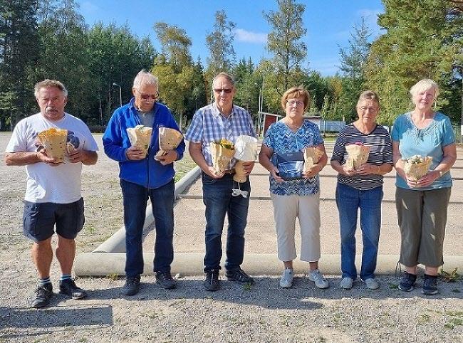 Vi som vann. Hans, Lennart, Erik, Ulla, Ingegärd och Sonja.