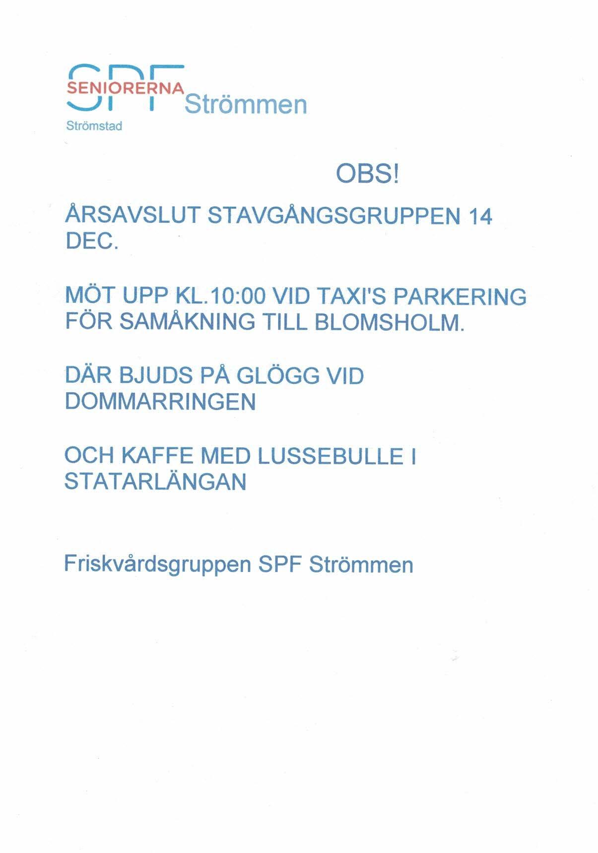 Avslut Blomsholm