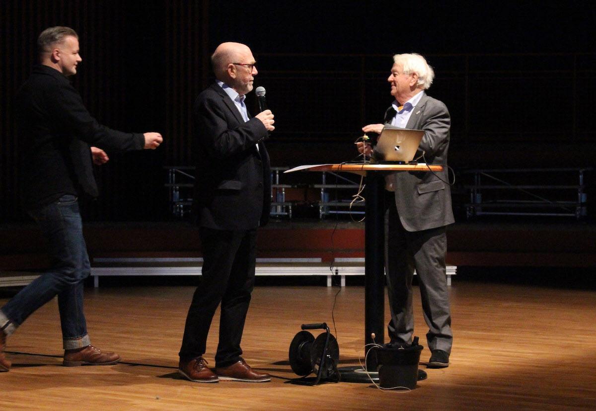 Boendedagen i Lund den 29 november 2019. Jens Nilsson, Ingemar Bryman och Fredrik von Platen.
