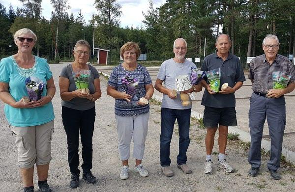 Årets vinnare: Sonja, Ingegärd, Ulla, Arne, Lennart och Kjell.