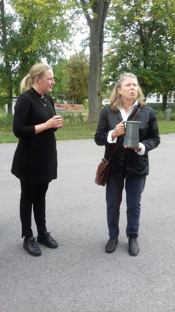 Karin Tallberg och Anna Lindell.