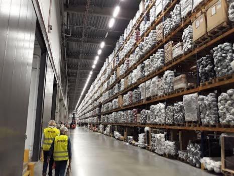 Studiebesök på Rustas lager i Norrköping