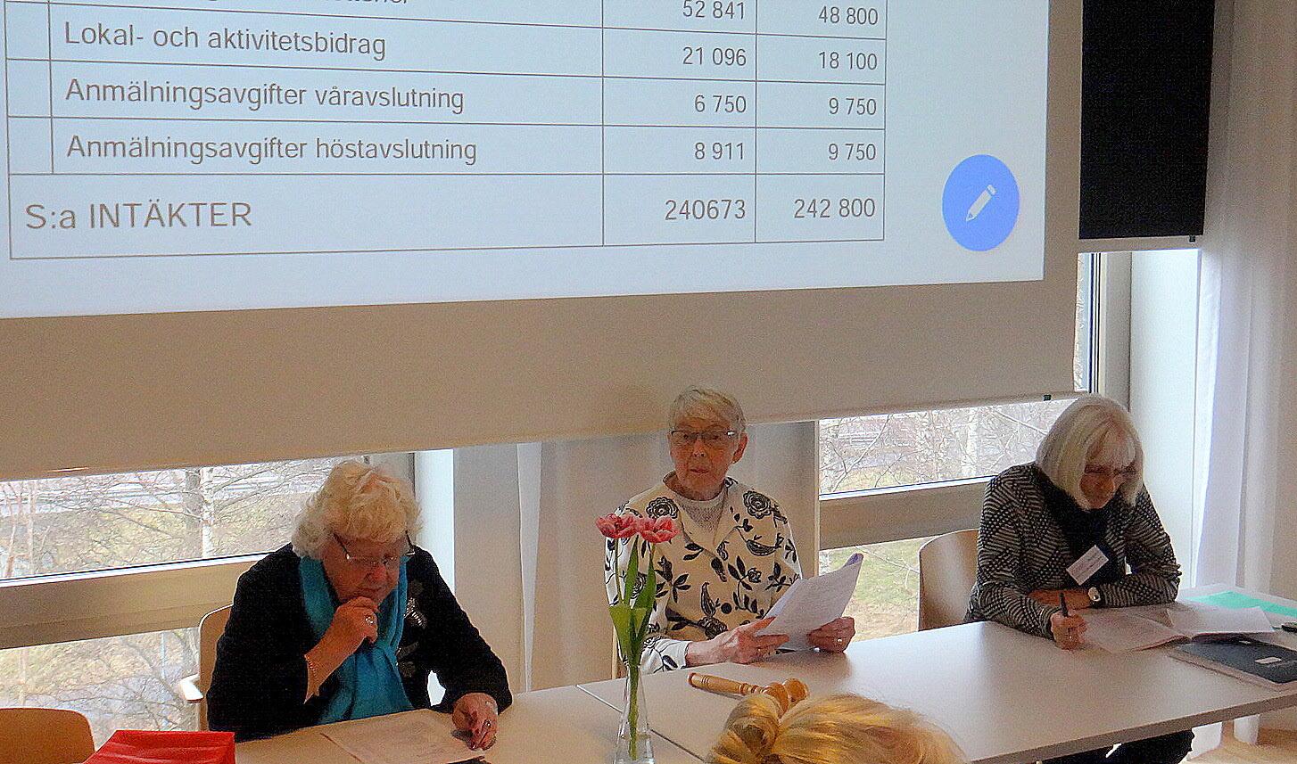 Årsmötet leddes av Margaretha Sahlin
