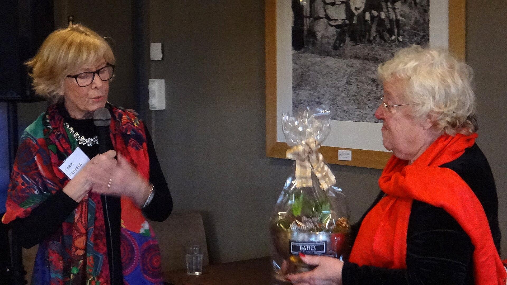 Karin tackade Gudrun för det stora arbete som hon lägger ner.