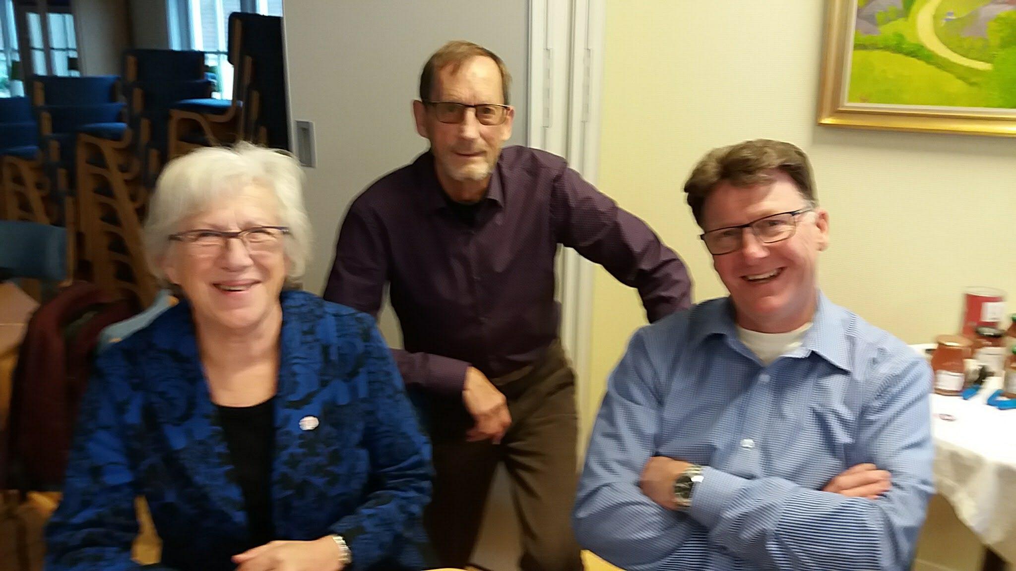 Carola Qvist (s) och Christer Nilsson(c). Björn Stenberg i mitten