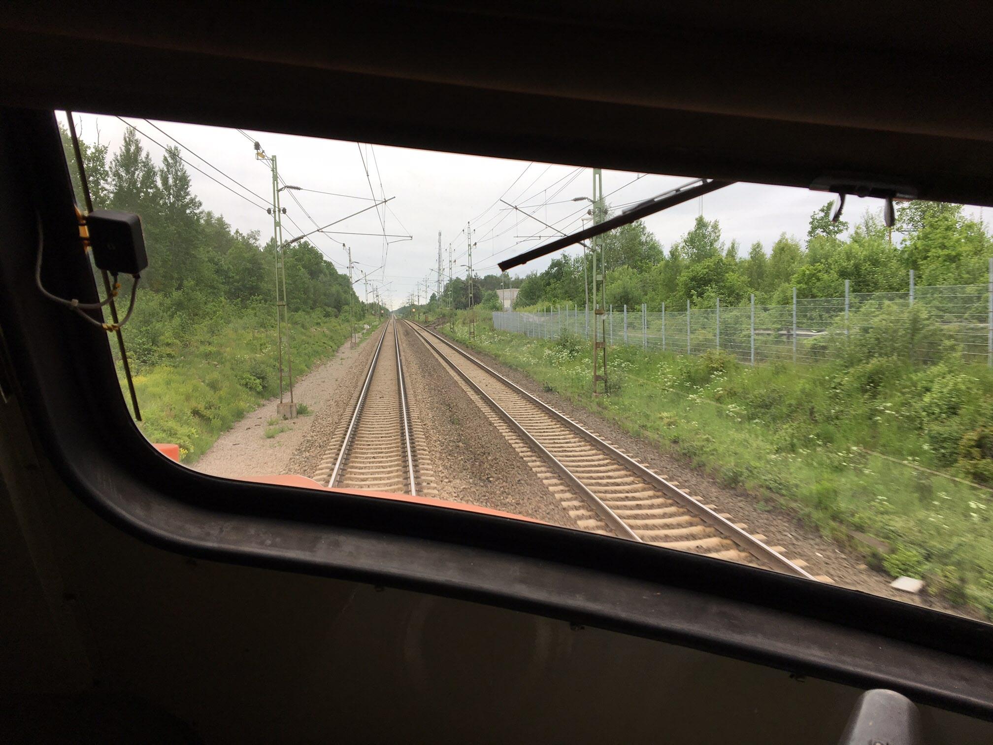Raka spåret ner mot Helsingborg