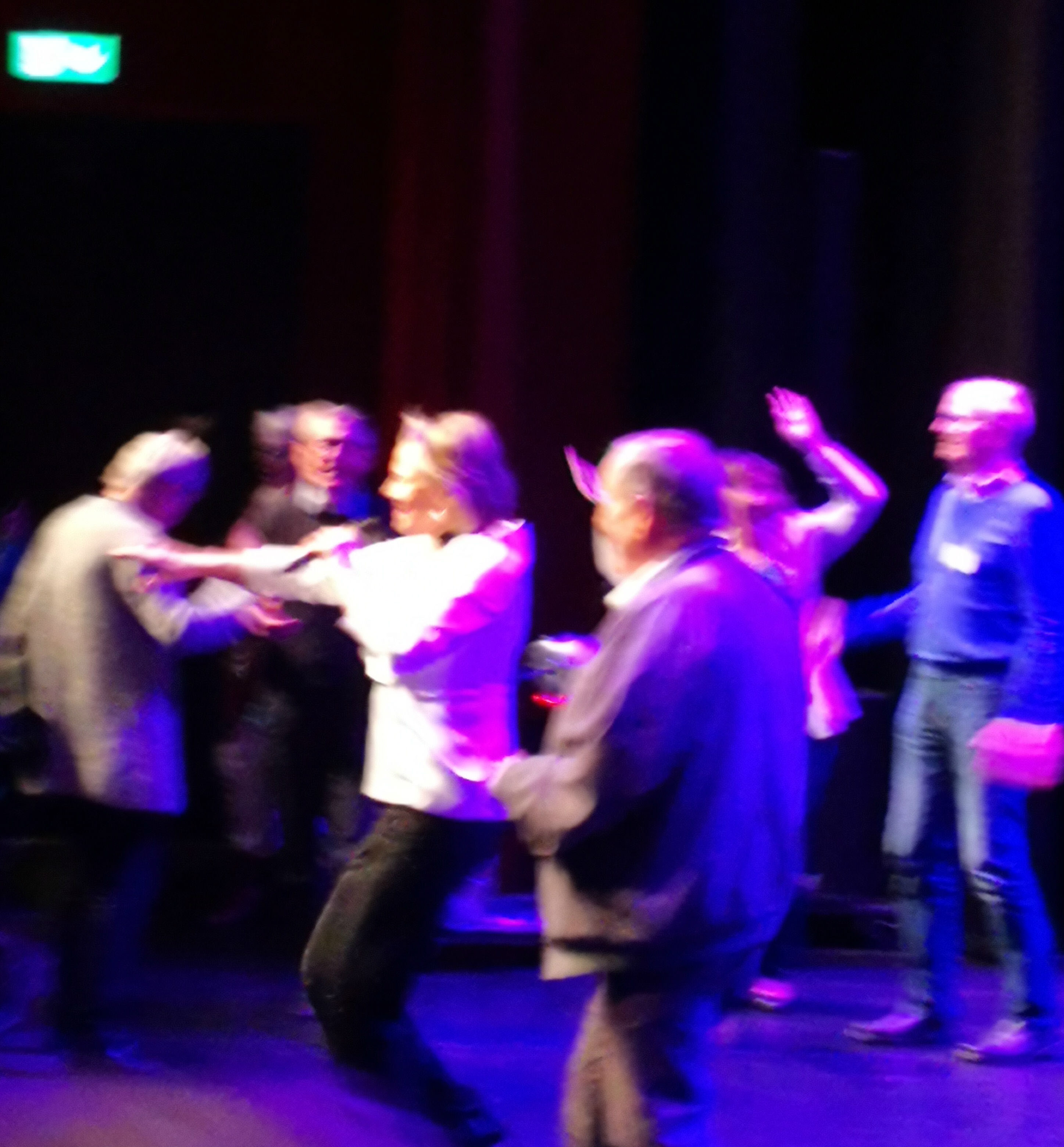 Dans med Arja på scen