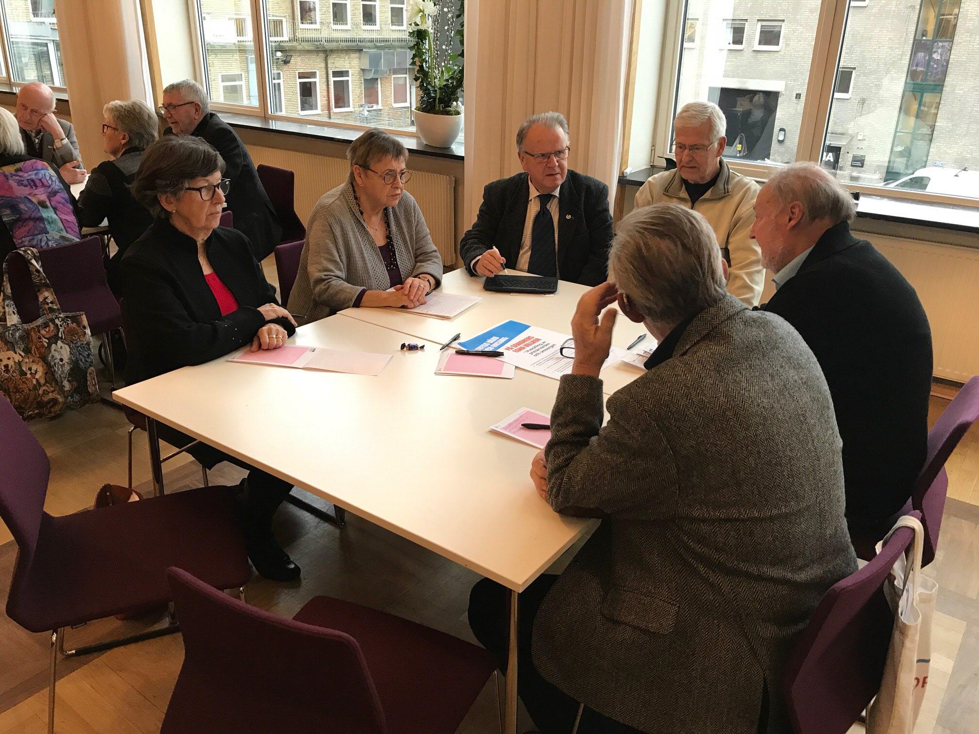 Samrådsgrupper diskuterar