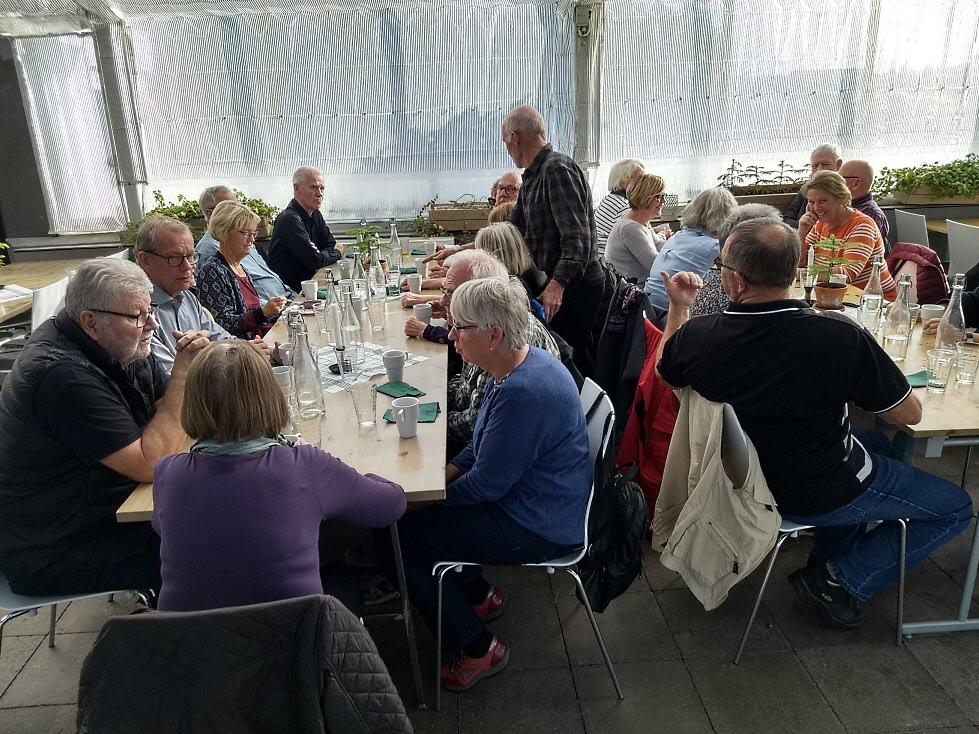 Det fanns mycket att diskutera vid lunchen på Goda Rum.