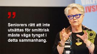Eva Eriksson om de nya covidutbrotten på äldreboenden – Åtgärder behövs