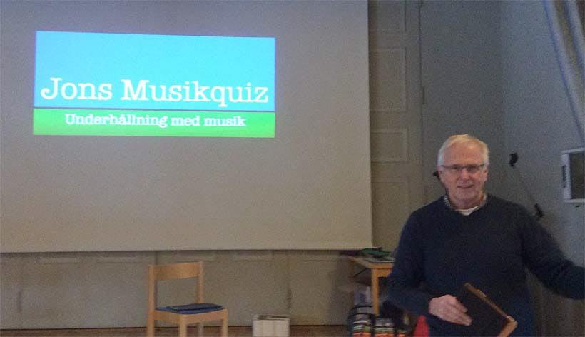 Jon Norberg med sitt musikquiz