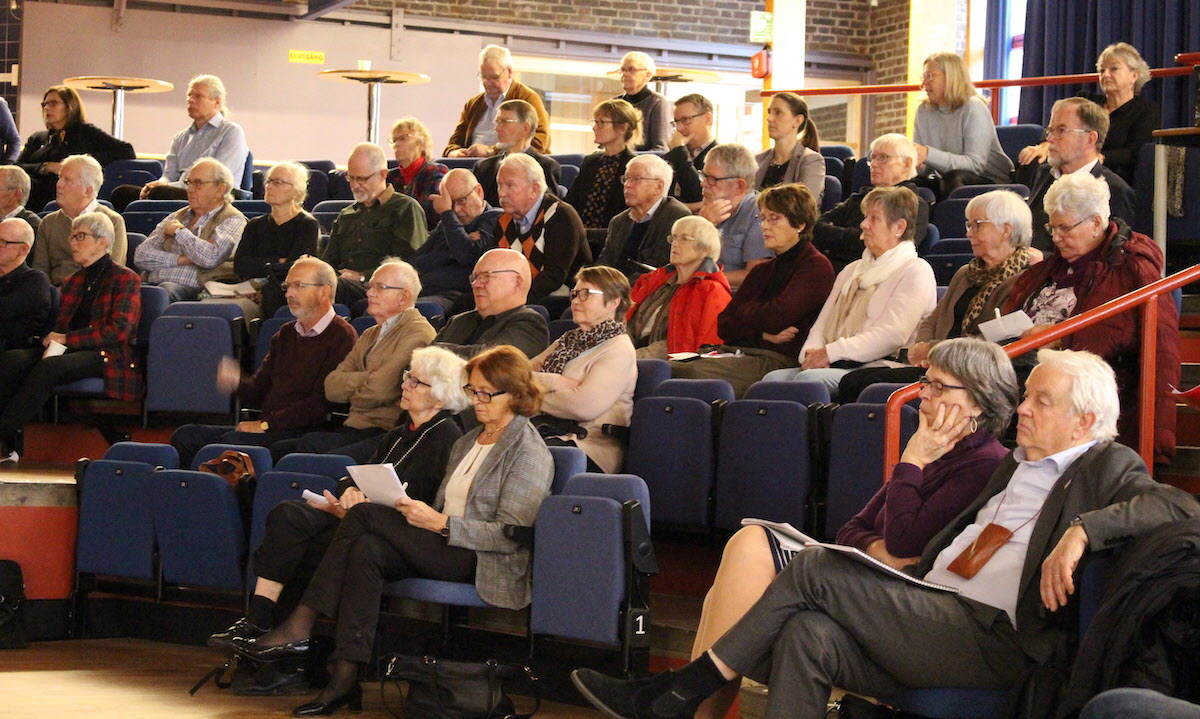 Boendedagen i Lund den 29 november 2019. Intresserade åhörare.
