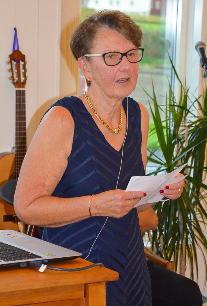 Margareta Andersson, ordf. gav en kortfattad historiebeskrivning