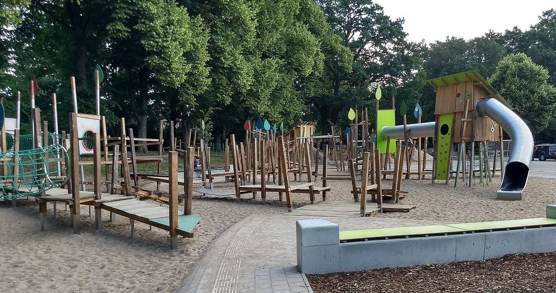 Lekparken i Grevesmühlen var också nyligen invigd, men någhot större än den därhemma.