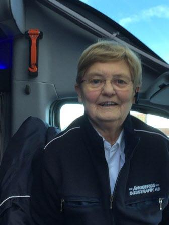 Dagens chaufför - Christina från Ängbergs buss