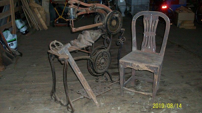 Skomakarens maskin med tillhörande stol!