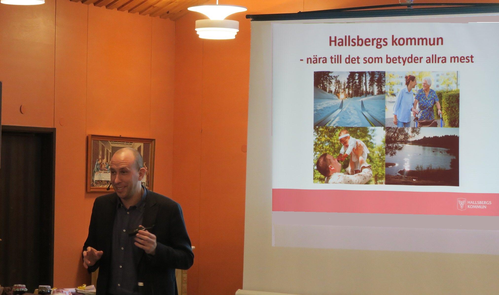 Magnus Andersson berättar om vad som är på gång i Hallsberg