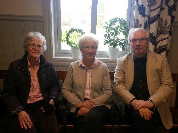 Supportrarna Christina Löfgren, Kerstin Adie och Ingmar Kärrsten