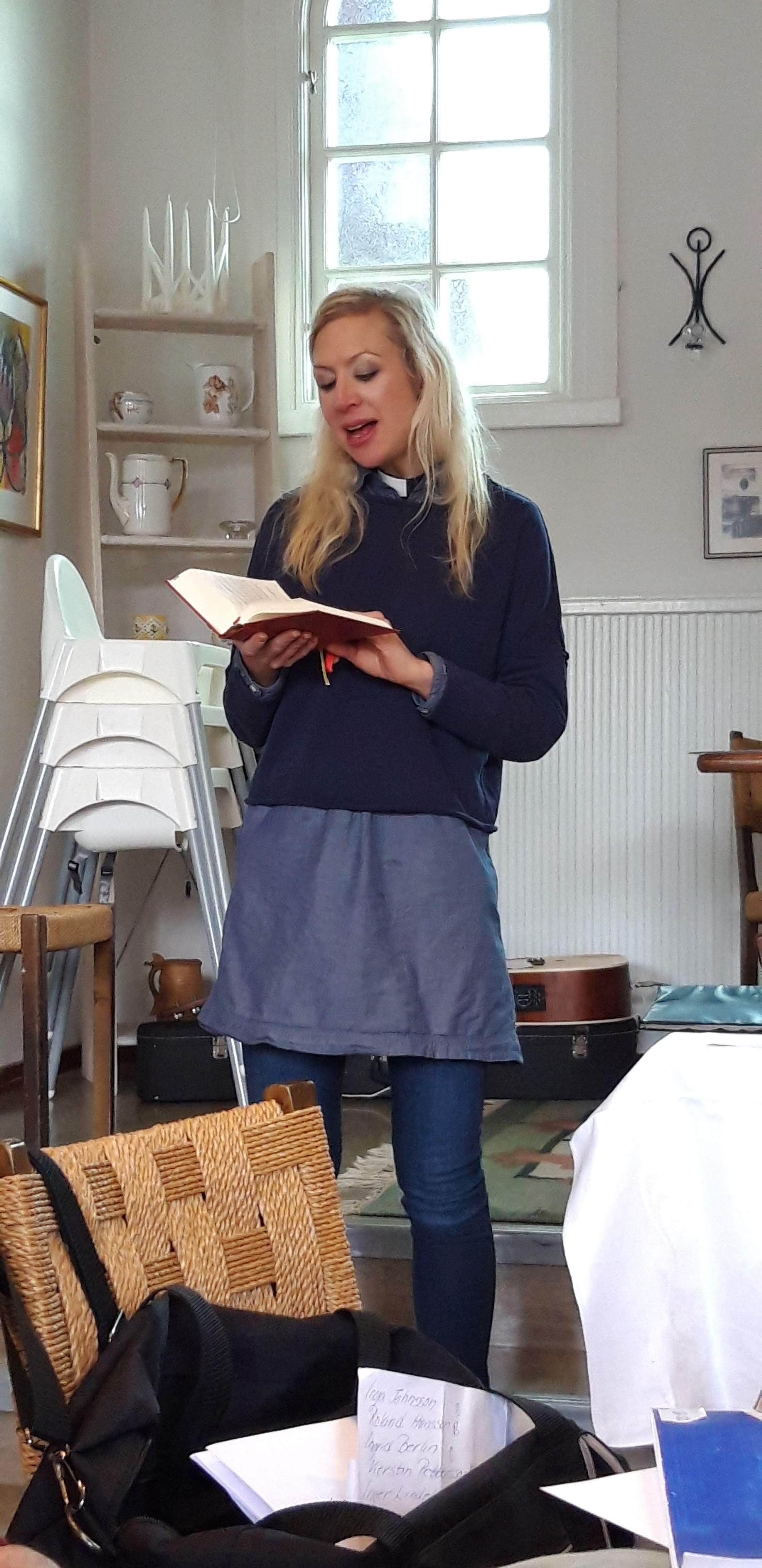Rebecka Bergman höll en högtidlig parentation