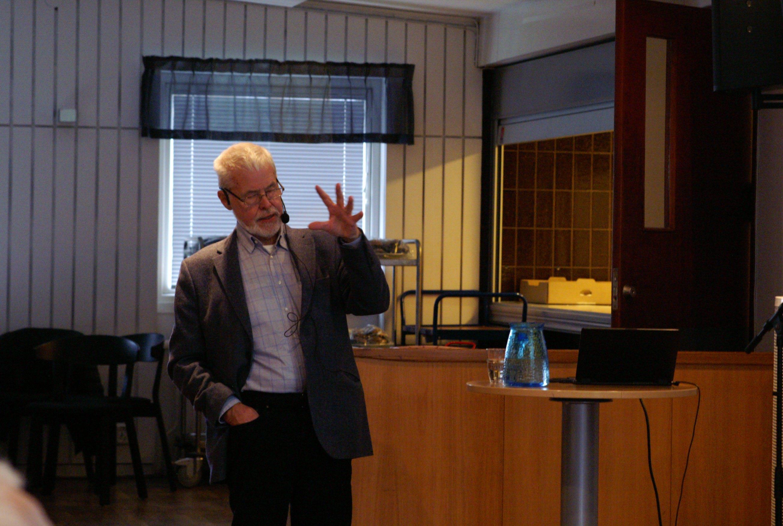 Bengt Wahlström i full aktion