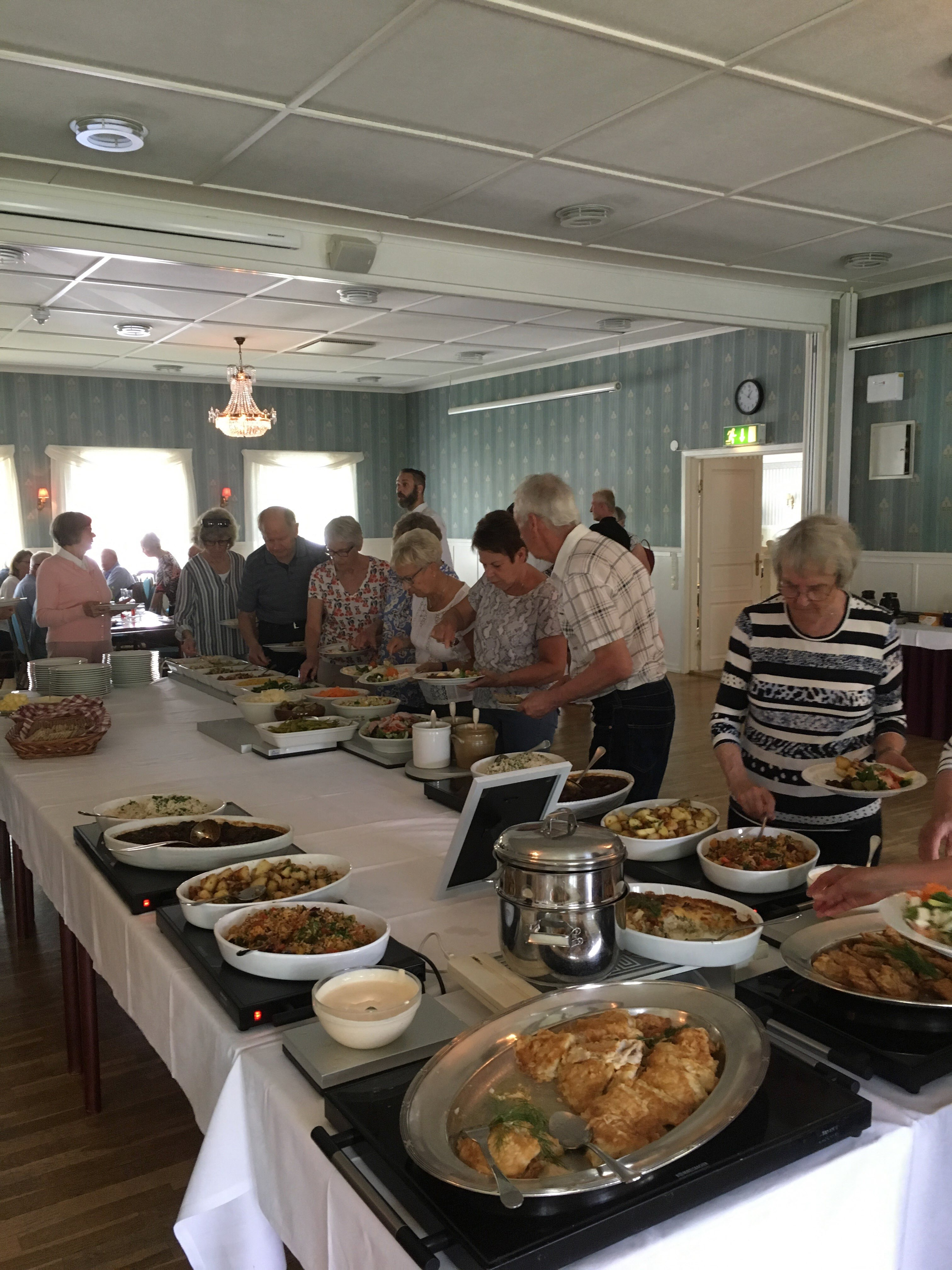 Lunch på Järvsöbaden för SPF-medlemmarna