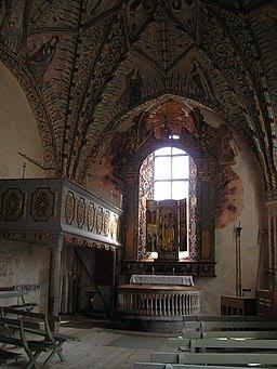 Altare Enångers gamla kyrka