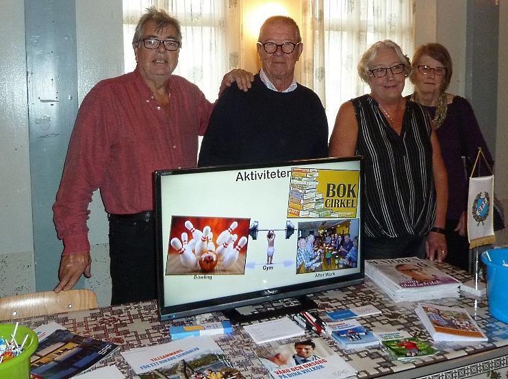 I september var det föreningsmässa på Bergfästet. Här har vi SPF:s representanter denna gång. Ulf, Keijo, Siw och Eva-Karin.