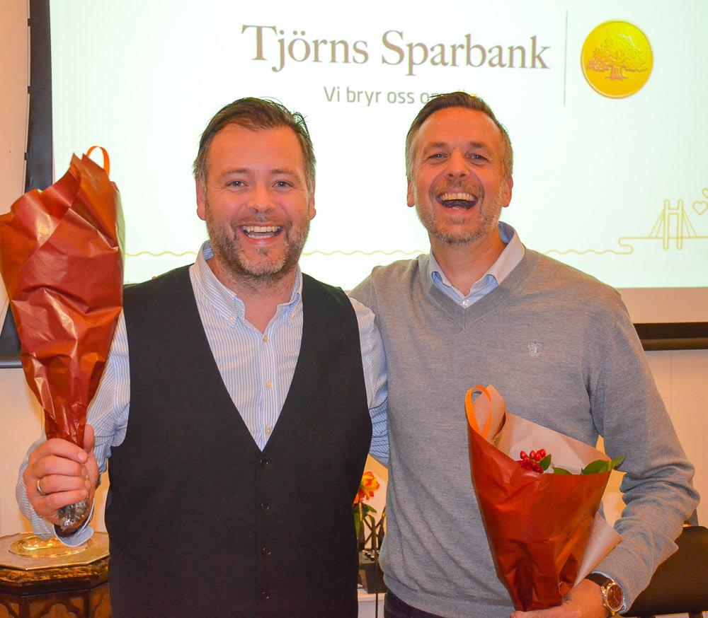 Håkan Thisell, privatmarknadschef och VD Hans Tiderman, Tjörns Sparbank