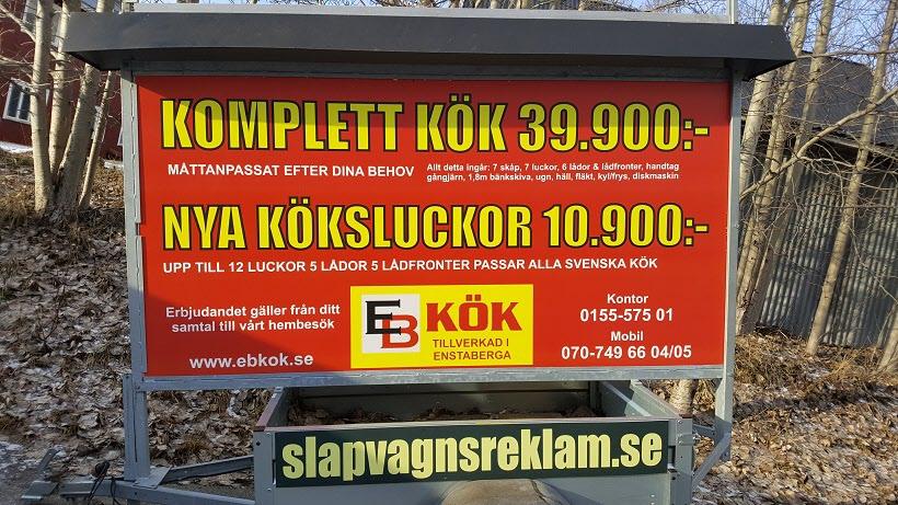 EB Kök Släpvagnsreklam