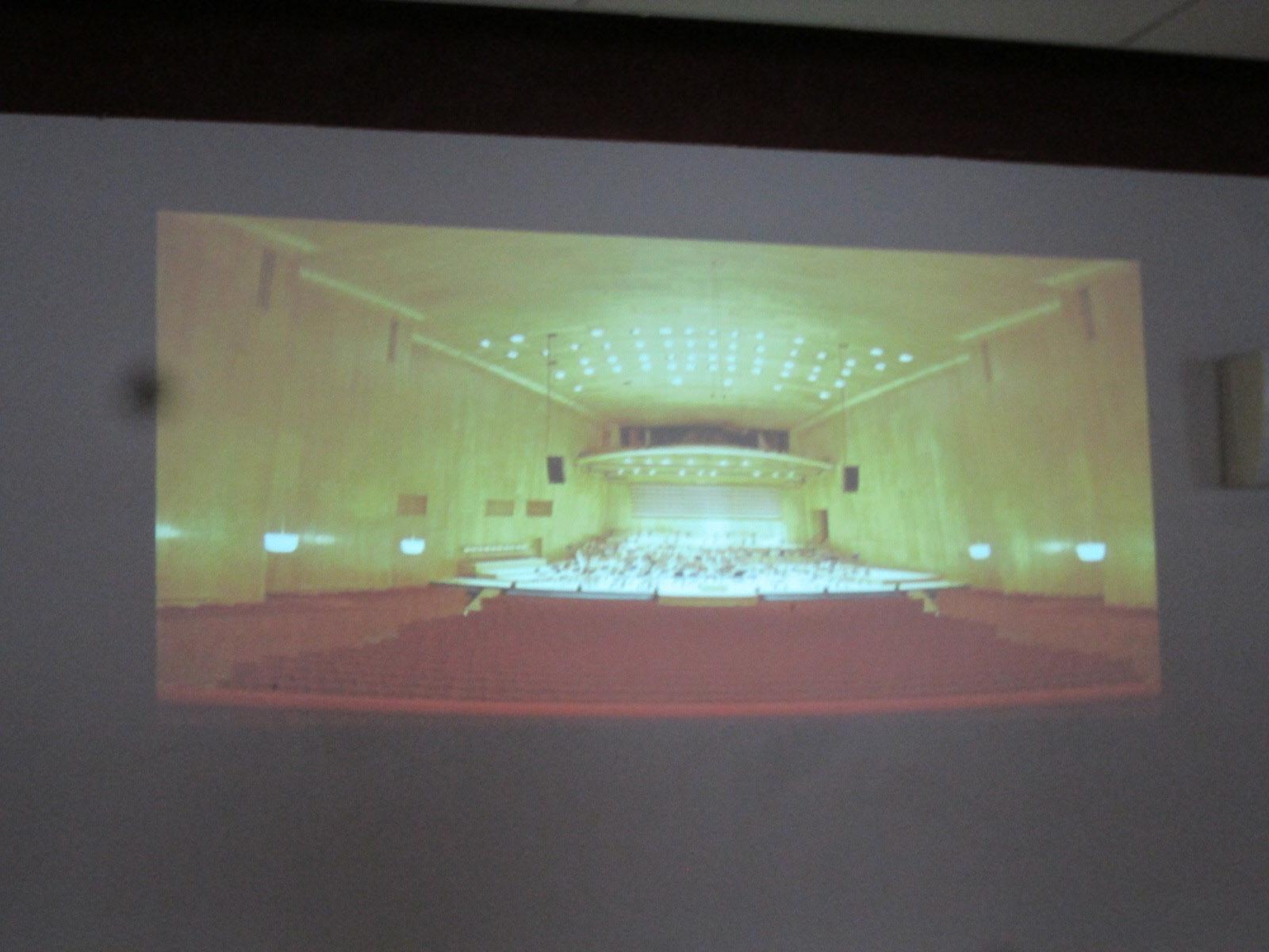 Världsbra akustik i salen