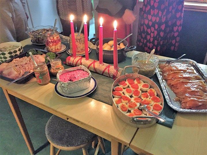 Hoppas gästerna är hungriga. Visst ser det gott ut?