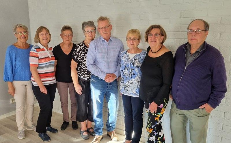 Styrelsen 2021. Astrid, Margareta, Ingegärd, Inger, Lars, Elisabeth, Catarina, Jan. På bild saknas Bo.