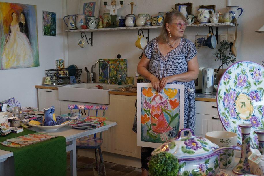Lena berättar (Foto: Karin Forsgard)