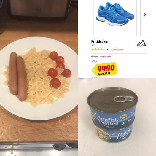 Johans mat och nya skor