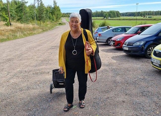 Dagens underhållare Birgitta Andersson.