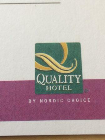 Distriktsstämman hölls på Quality Hotel. Nära för många deltagare.