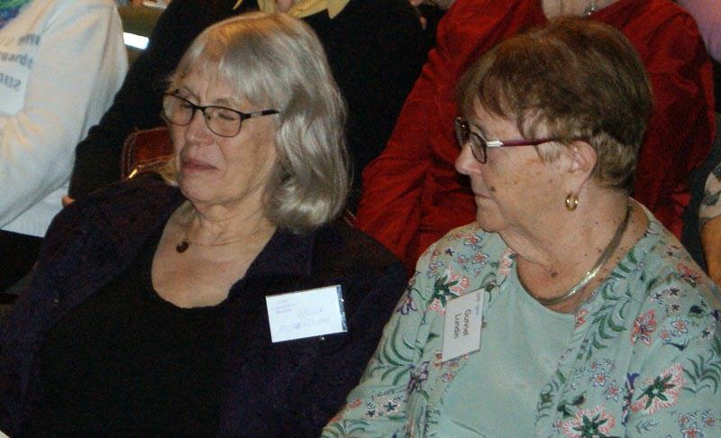 Här sitter de som höll i dagen - Gunnel och Ulla
