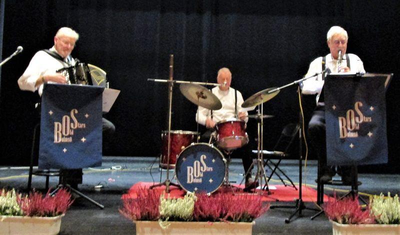Trion Bolmsö Old Stars: Mats Öberg, Nico Fleuren och Inge Palm underhåller oss med gamla härliga jazzlåtar.