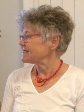 Agneta - en av många intresserade åhörare